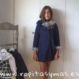Abrigo azul MOSCÚ niña de KAULI, invierno 2018