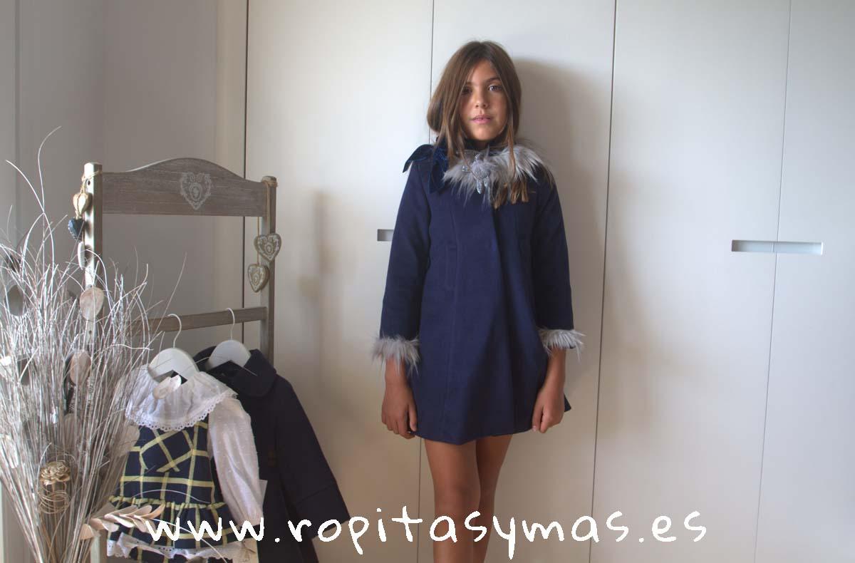 Abrigo azul MOSCÚ niña de KAULI
