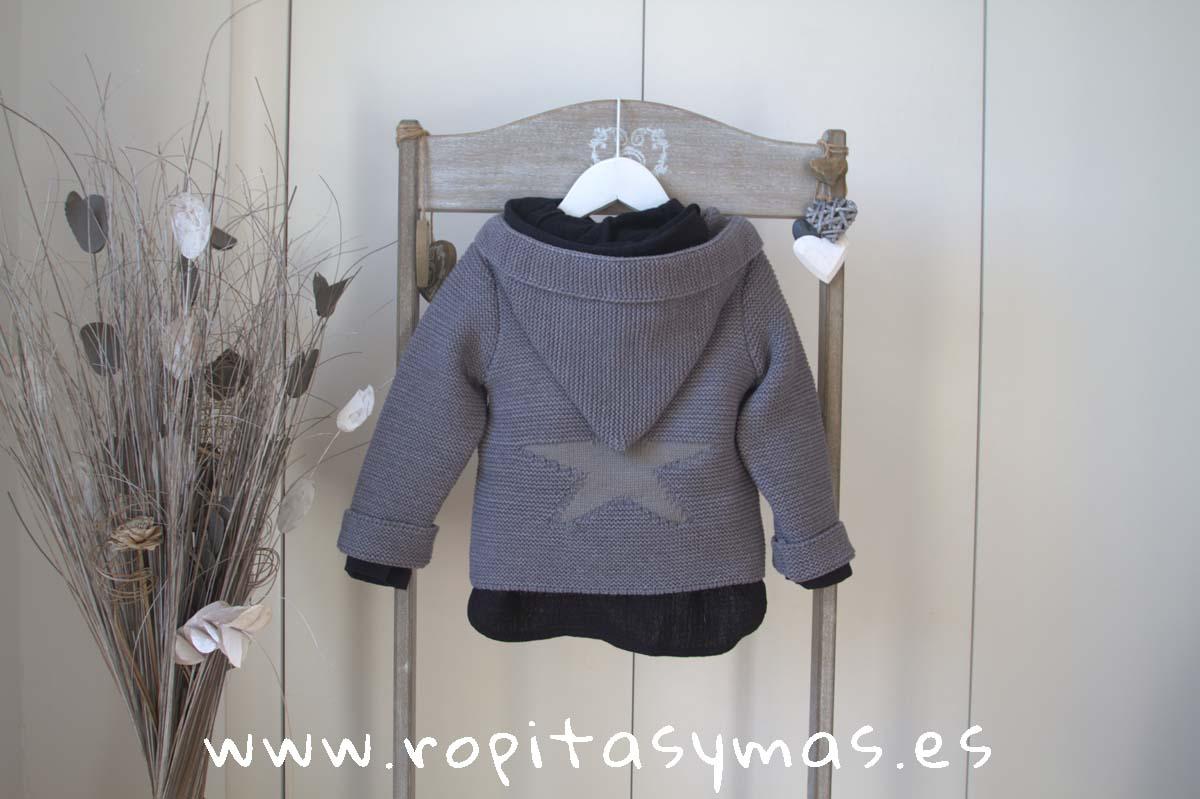 Jersey GRIS estrella gris con capucha de MIA Y LIA