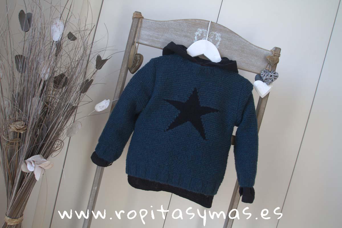 Jersey gris azulado estrella negra de MIA Y LIA