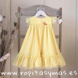 Vestido tul amarillo LEMON de KAULI, verano 2019