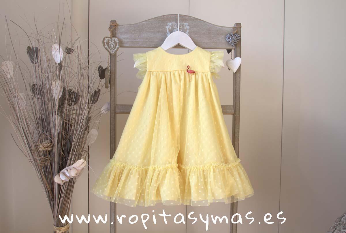 Vestido tul amarillo LEMON de KAULI