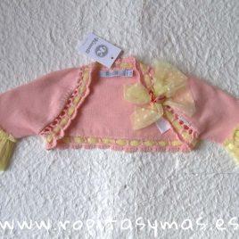 Chaqueta bolero rosa y amarilla niña LEMON de KAULI, verano 2019