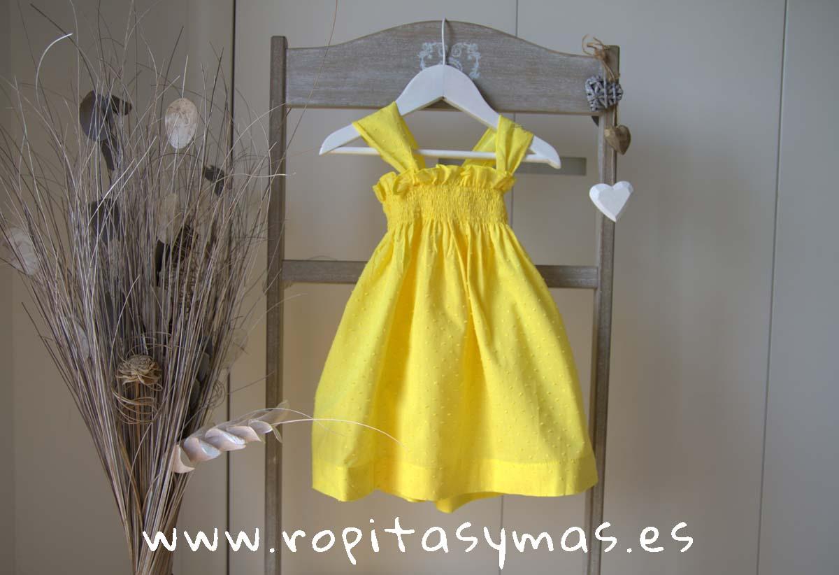 Vestido plumeti amarillo ACAPULCO de LE PETIT MARIETTE