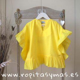 Camisola amarilla ACAPULCO de LE PETIT MARIETTE, verano 2019