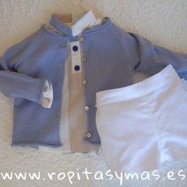 Chaqueta azul jeans claro botones de Ancar, verano 2019