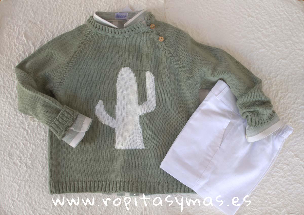 Jersey verde seco CACTUS de ANCAR