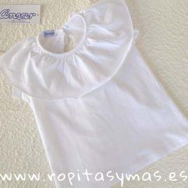 Camiseta volante blanca de ANCAR, verano 2019