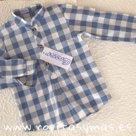 Camisa cuadros azulones y blancos de Ancar, verano 2019