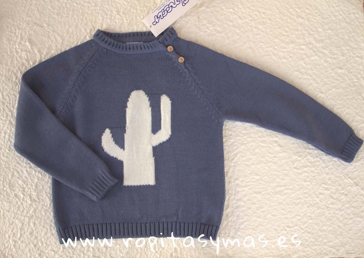 Jersey azul jeans PECES de ANCAR