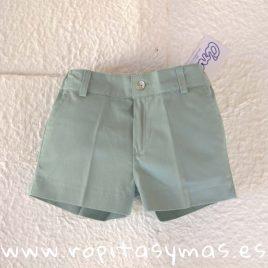 Pantalón muy corto verde agua NUBE de  ANCAR, verano 2019