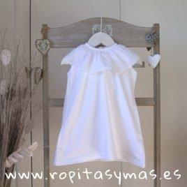Vestido blanco volante  de ANCAR, verano 2019