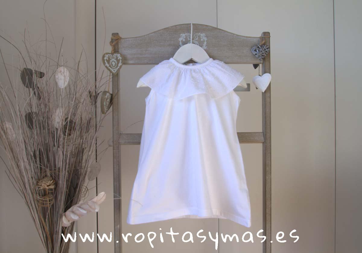 Vestido blanco volante de ANCAR