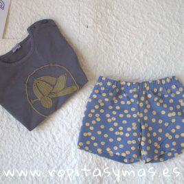 Camiseta azul grisaceo gorra PELOTAS de ANCAR, Verano 2019