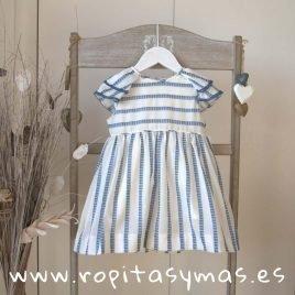 Vestido rayas geometricas azules de ANCAR, verano 2019