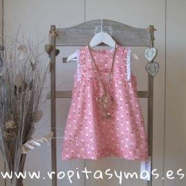 Vestido rosa flamencos talle alto de ANCAR, verano 2019