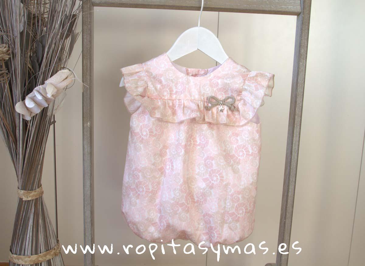Pelele rosa caracolas SHELL EVE CHILDREN