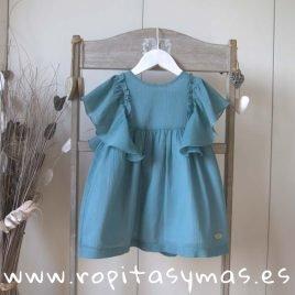 Vestido bambula azul INDI de EVE CHILDREN, verano 2019