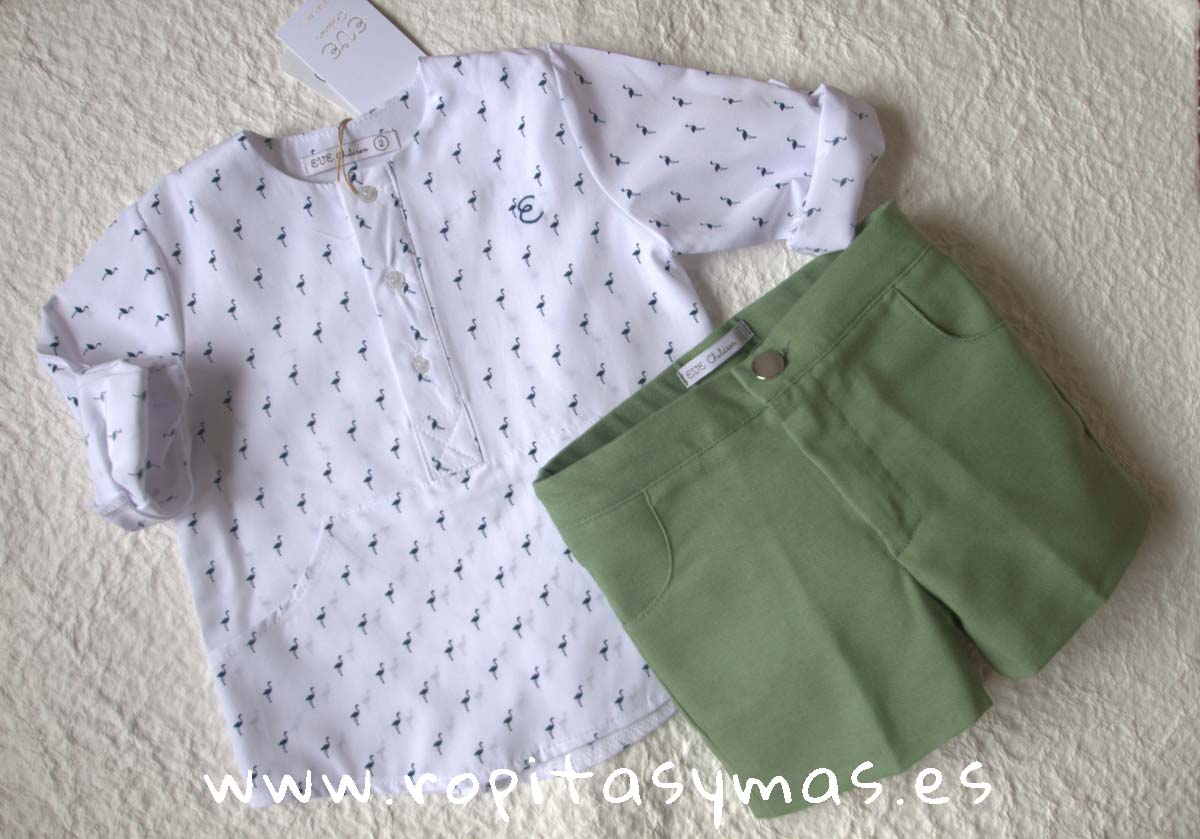 Conjunto niño flamencos GRASS de EVE CHILDREN
