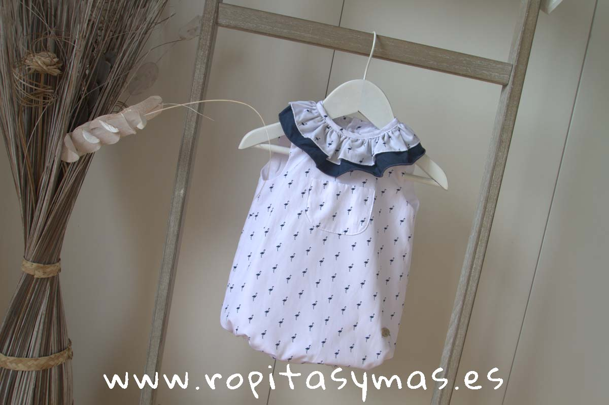 Pelele cuello volante GRASS de EVE CHILDREN