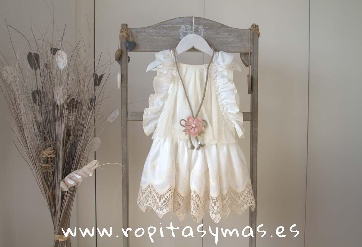 Vestido marfil BOHO de KAULI