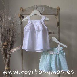 Blusa blanca plumeti tirantes CIES de KAULI, verano 2019