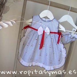 Vestido marinero con braguita BARCOS de KAULI, baño verano 2019