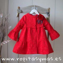 Abrigo rojo ISLA niña de KAULI, verano 2019