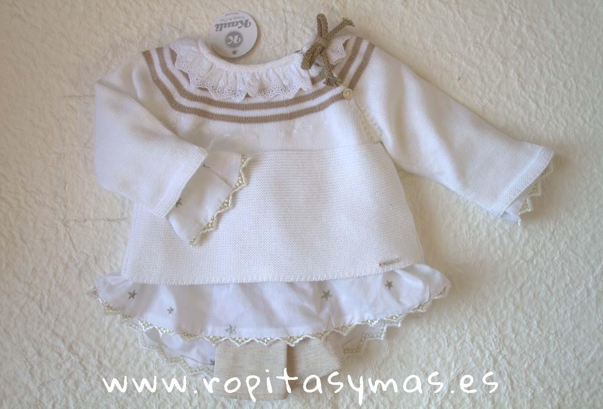 Jersey blanco y beige YOUNG&CHIC de KAULI