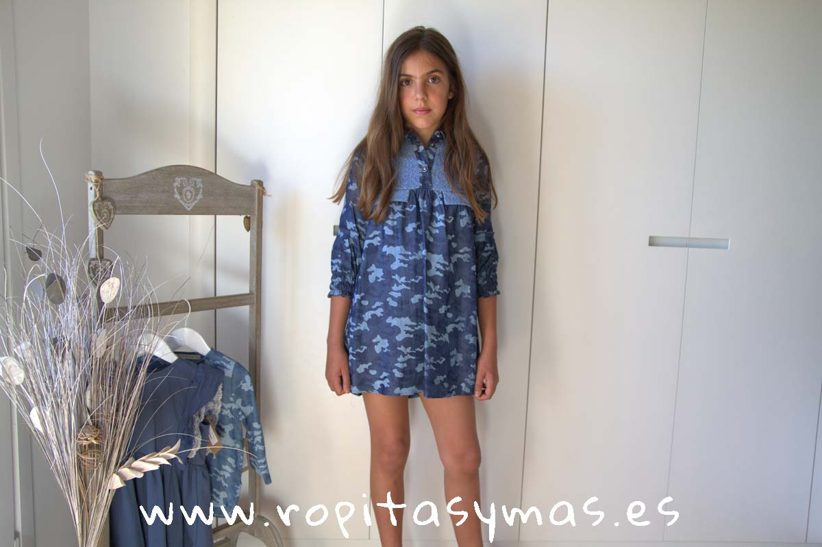 Vestido camuflaje azul YOUNG&CHIC URBAN de KAULI
