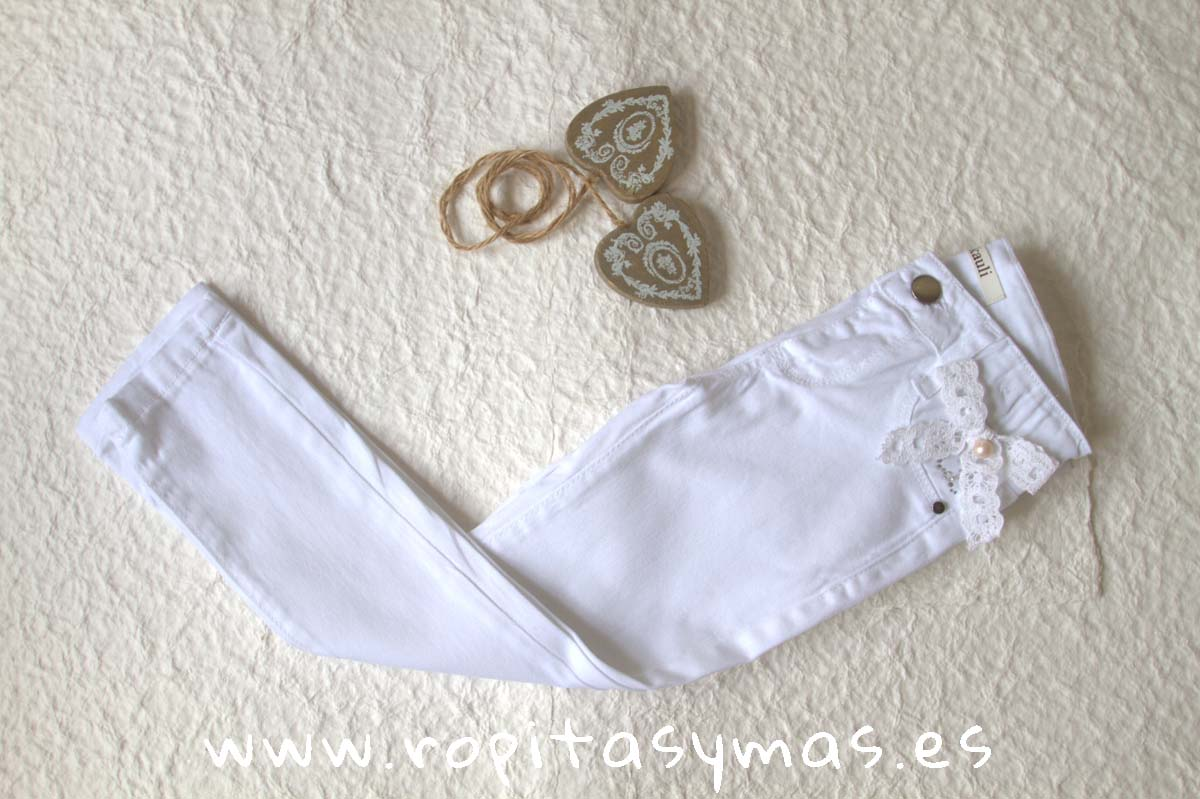 Pantalón largo YOUNG & CHIC blanco de KAULI