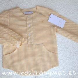 Camisa niño rayas amarillas BIRD de EVE CHILDREN, verano 2019