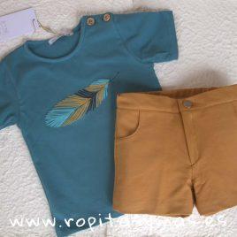 Conjunto niño camiseta pluma INDI de EVE CHILDREN, verano 2019