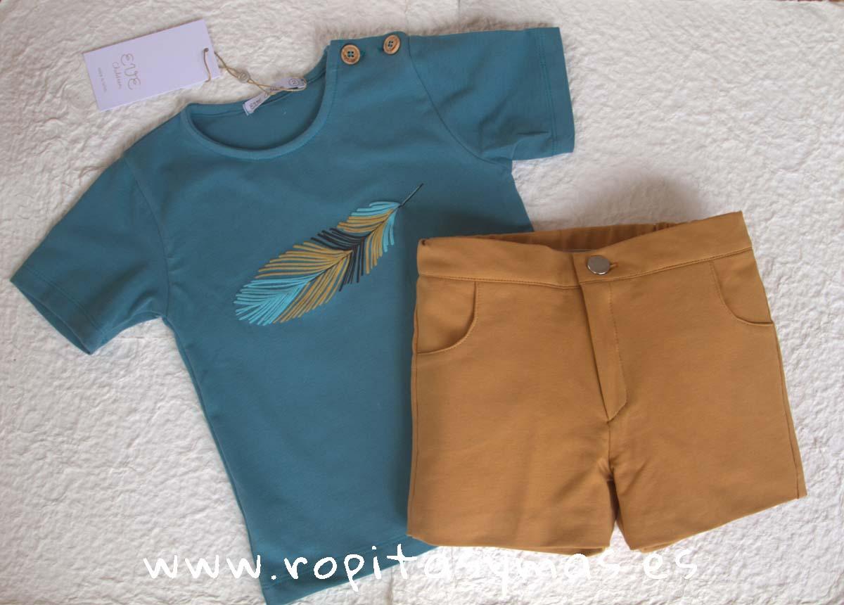 Conjunto niño camiseta pluma INDI de EVE CHILDREN