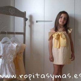 Vestido rayas amarillas BIRD de EVE CHILDREN, verano 2019