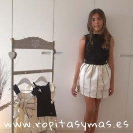 Conjunto falda rayas negras PARADE de EVE CHILDREN, verano 2019