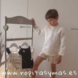 Conjunto niño crudo rayas PARADE de EVE CHILDREN, verano 2019
