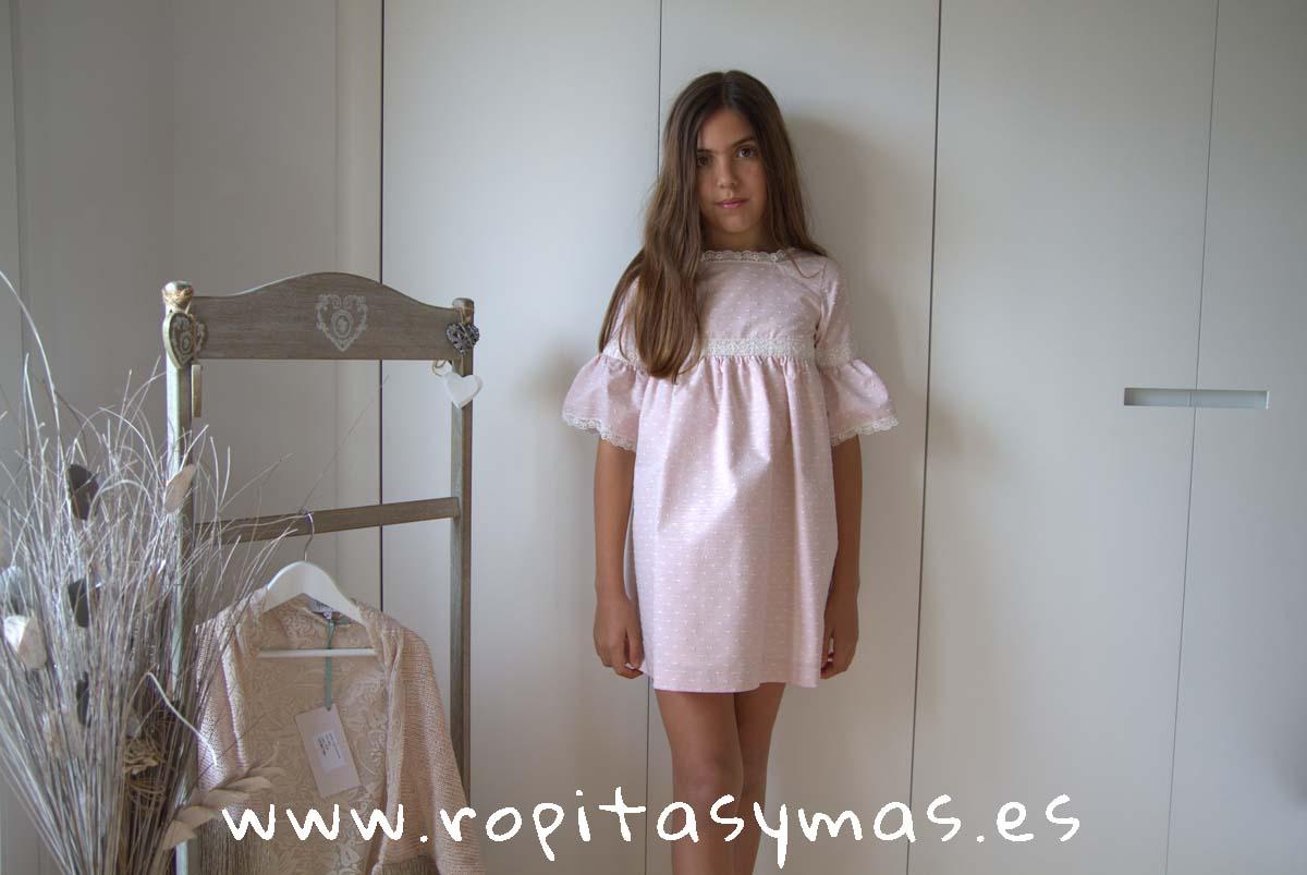Vestido rosa manga AMELIE CONFETTI de MAMI MARÍA