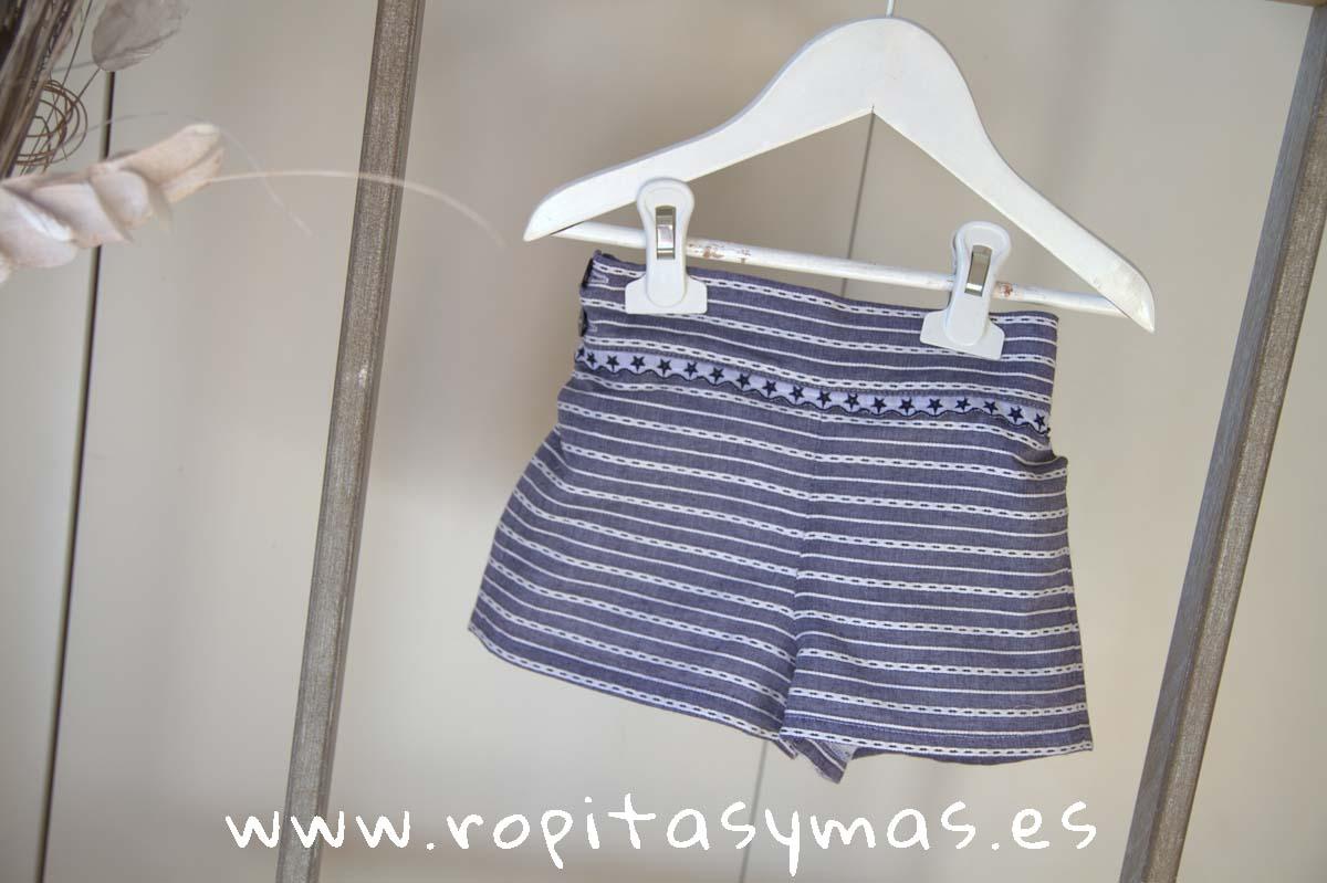 Short azul rayado FRESH LEMONADE de MAMI MARIA