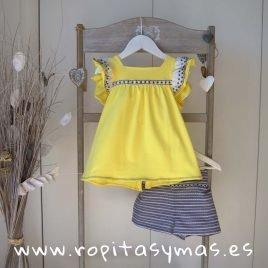Camiseta amarilla LEMON LEMONADE de MAMI MARÍA, verano 2019