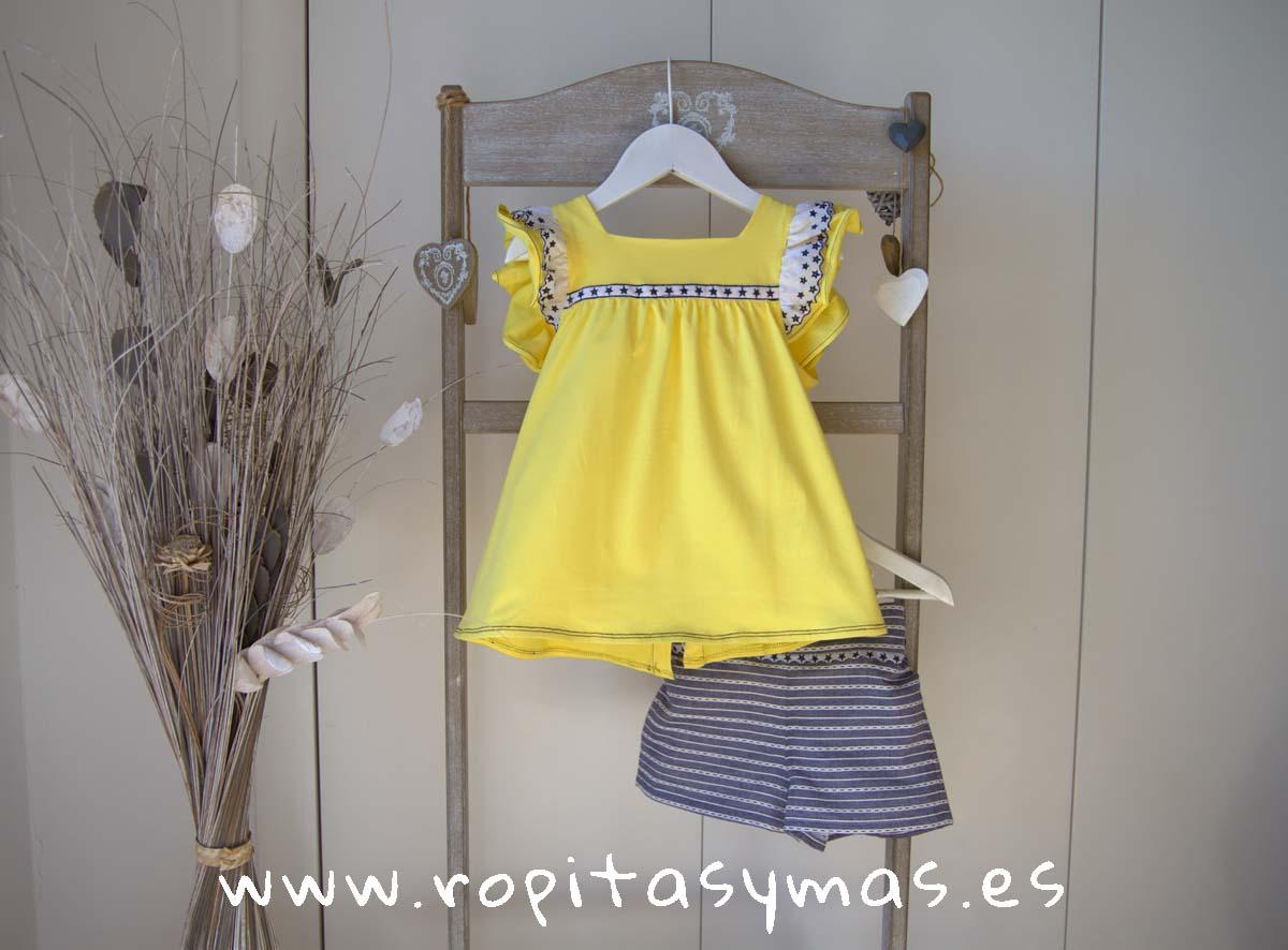 Camiseta amarilla LEMON LEMONADE de MAMI MARÍA