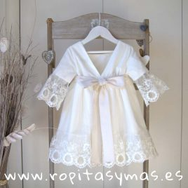 Vestido blanco roto ATELIER de MAMI MARÍA, verano 2019