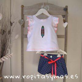 Camiseta blanca FLÚOR de MAMI MARÍA, verano 2019