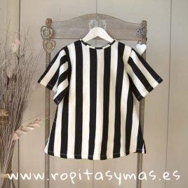 Vestido marinero rayas negras y blancas de MIA Y LIA, verano 2019