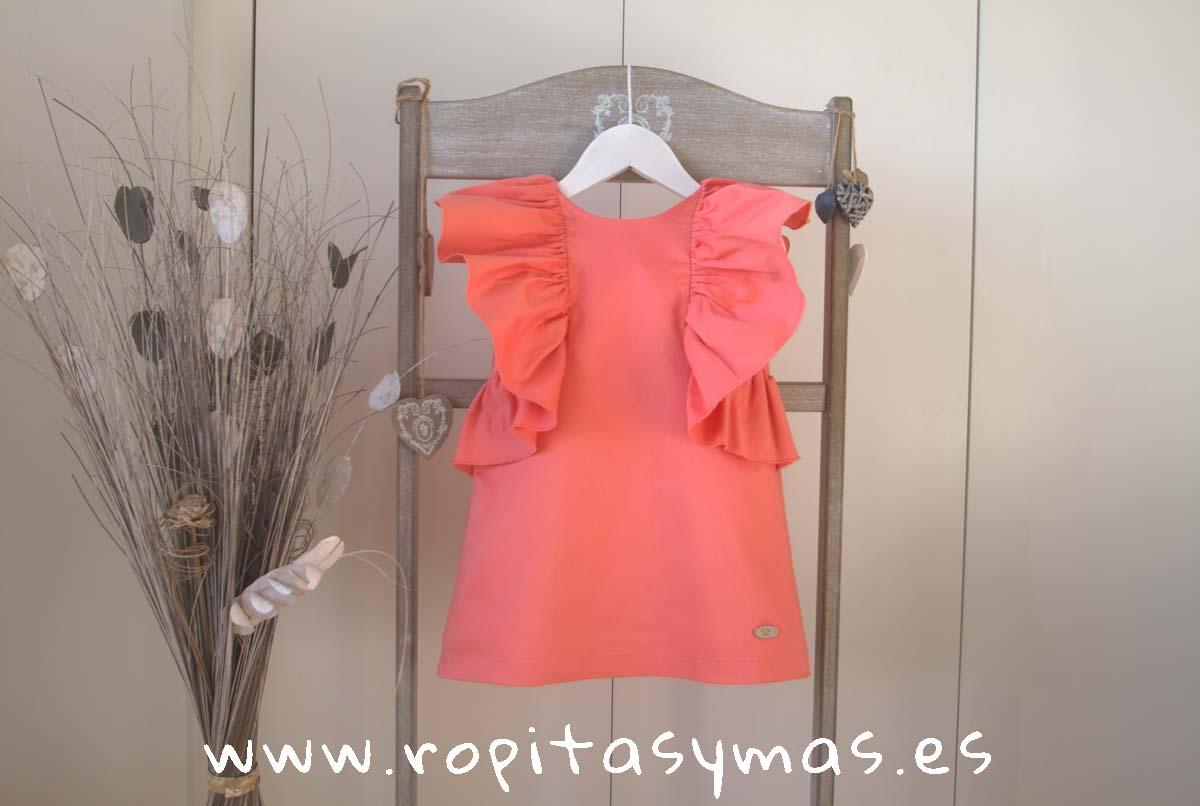 Vestido volantes coral MULET de EVE CHILDREN