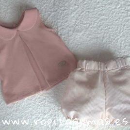 Conjunto niño rayas rosa SHELL de EVE CHILDREN, verano 2019