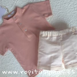 Conjunto niño polo rosa SHELL de EVE CHILDREN, verano 2019