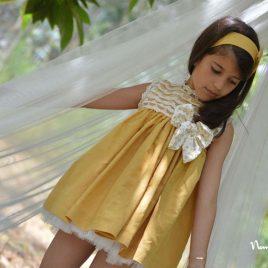 Vestido mostaza ÁMBAR de NOMA, verano 2019