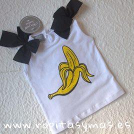 Camiseta plátano MON PETIT BONBON, verano 2019