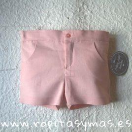 Pantalón corto rosa de MON PETIT BONBON, verano 2019